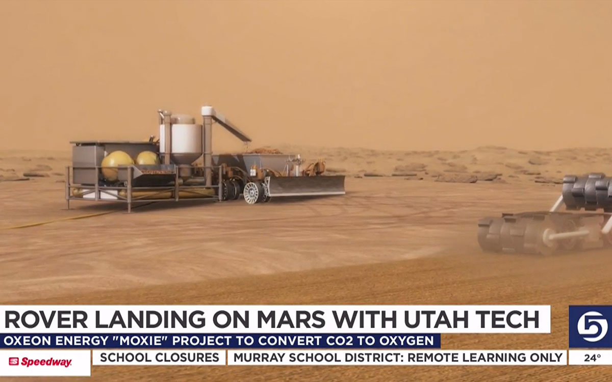 Mars Rover Includes Utah Company's Tech