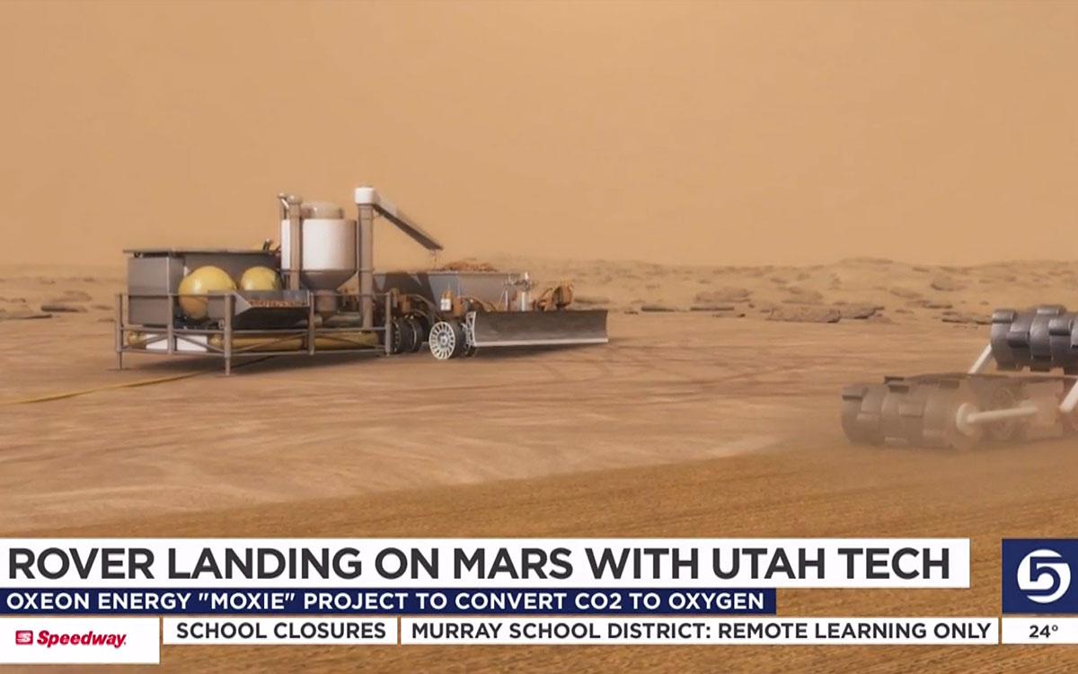 Mars Rover Includes Utah Company's Tech